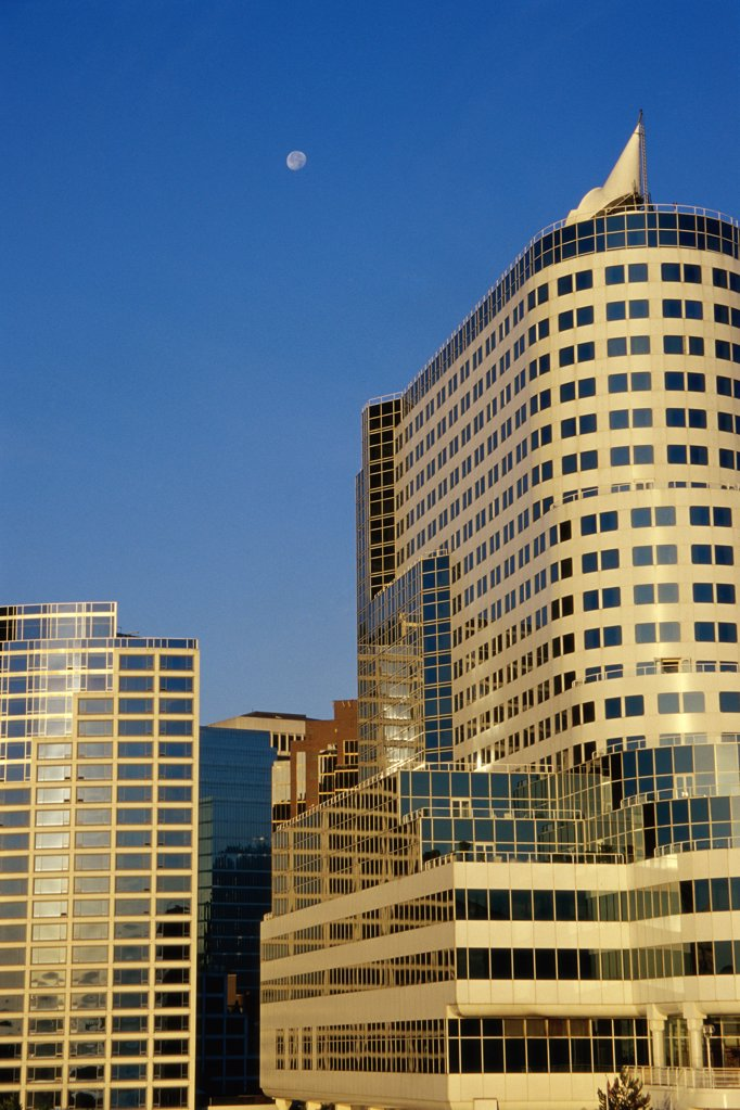 Stock Photo: 1486-8745 High rise buildings in a city, Vancouver, British Columbia, Canada