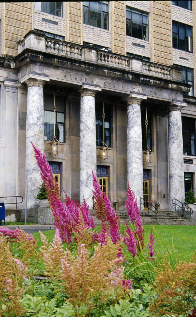 USA, Alaska, Juneau, Alaska State Capitol : Stock Photo
