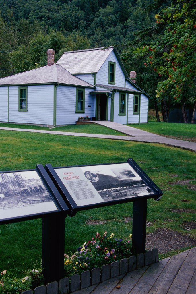 Moore House Skagway Alaska USA : Stock Photo