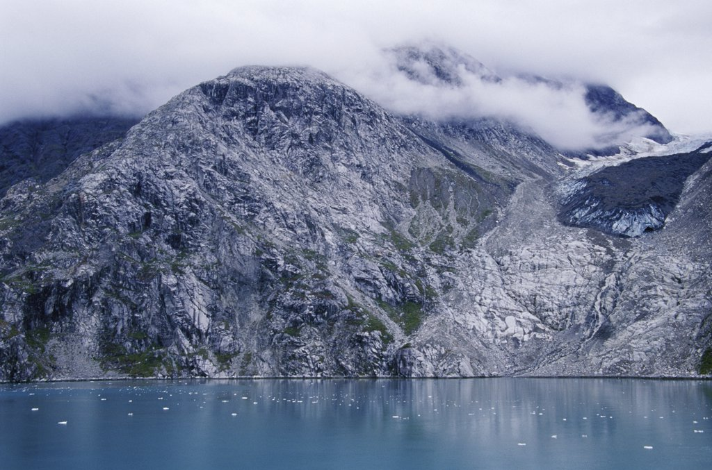 Clouds over a mountain, Johns Hopkins Inlet, Alaska, USA : Stock Photo