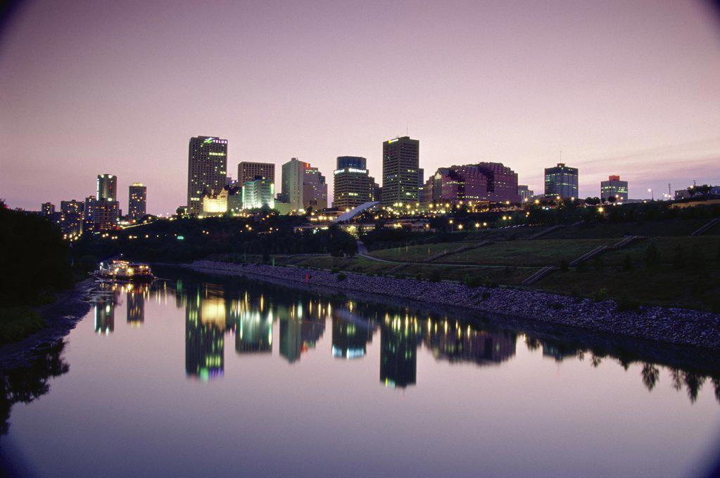 Saskatchewan River, Edmonton, Alberta, Canada : Stock Photo