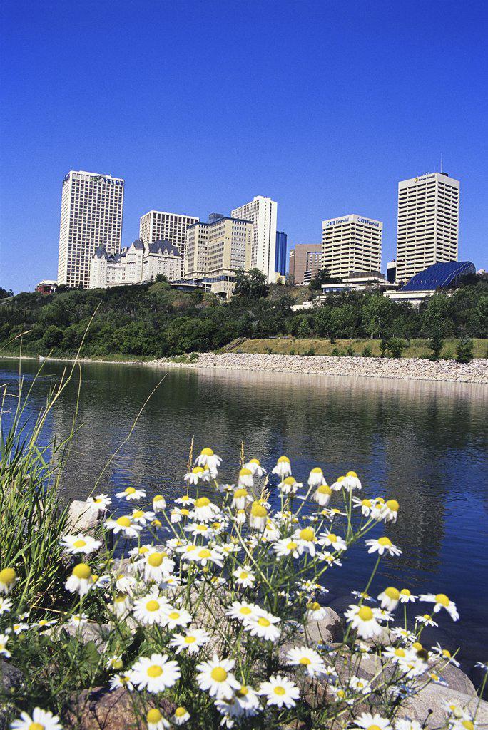Stock Photo: 1486-8801C Saskatchewan River Edmonton Alberta, Canada