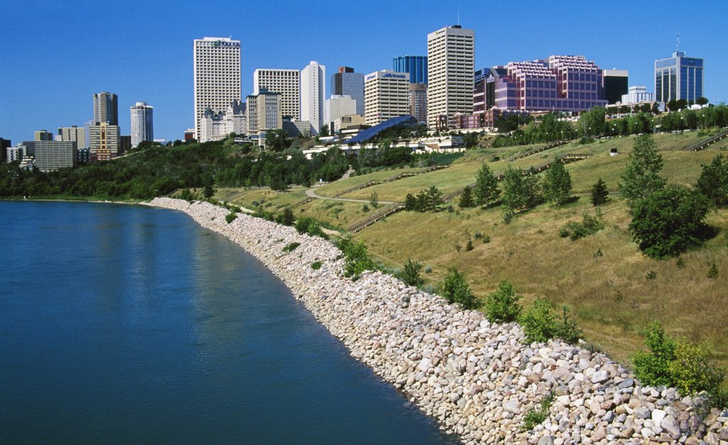 Stock Photo: 1486-8802 Saskatchewan River Edmonton Alberta, Canada