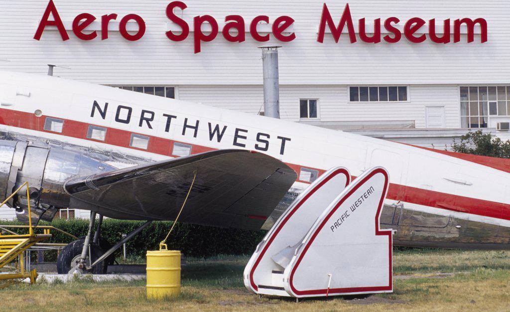 Stock Photo: 1486-8847 Aero Space Museum Calgary Alberta, Canada