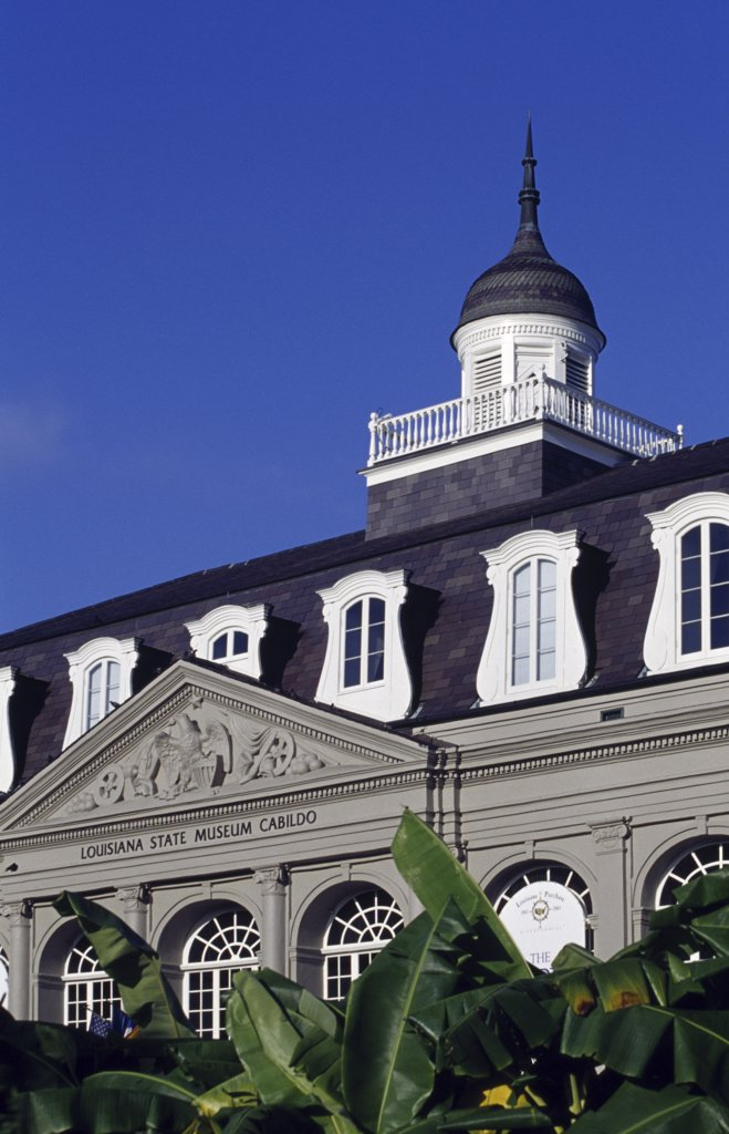 Low angle view of a museum, Louisiana State Museum, New Orleans, Louisiana, USA : Stock Photo