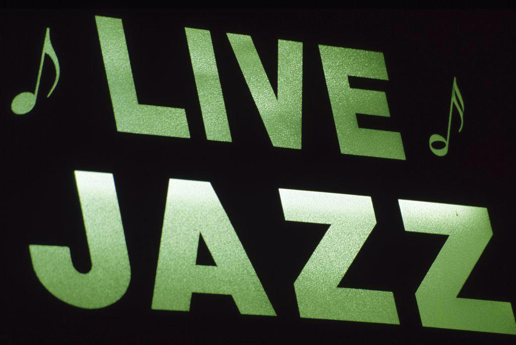Stock Photo: 1486-8911 Neon sign on a nightclub, New Orleans, Louisiana, USA