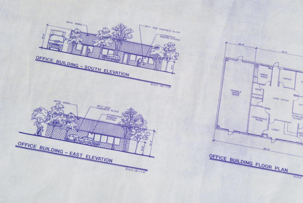 Stock Photo: 1486-8955 Close-up of blueprint
