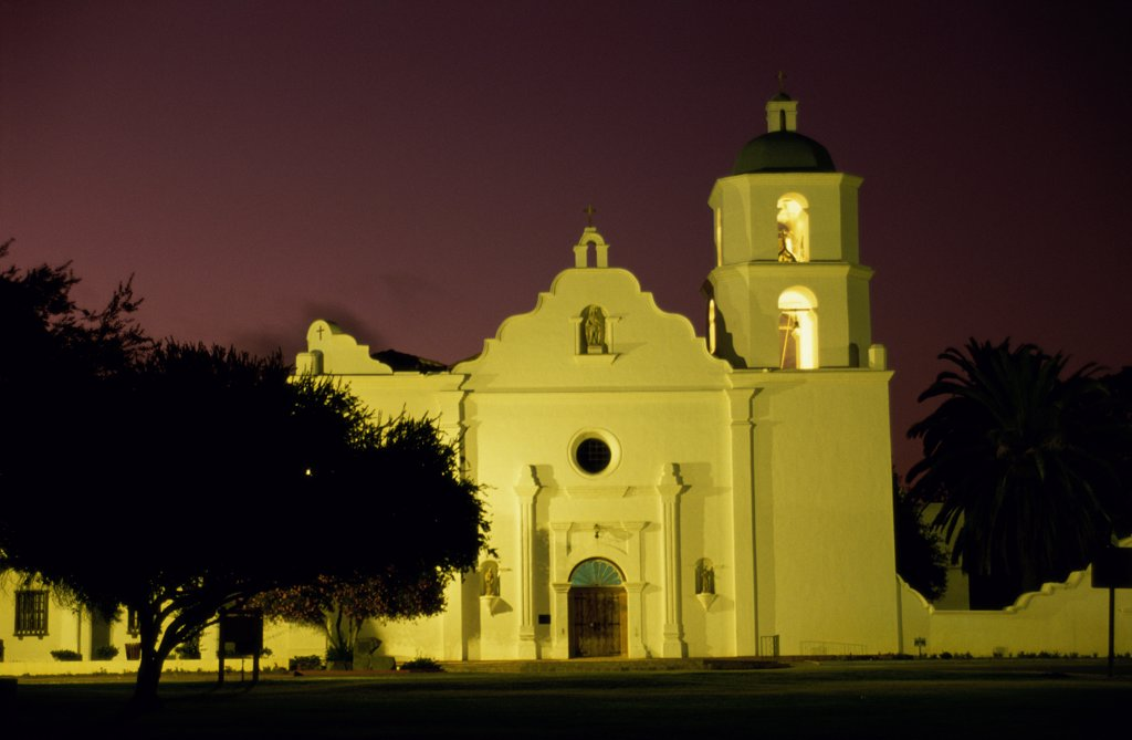 Stock Photo: 1486-9139 Mission San Luis Rey de Francia Oceanside California USA