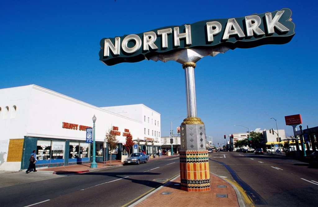 Stock Photo: 1486-9186 USA, California, San Diego, North Park sign