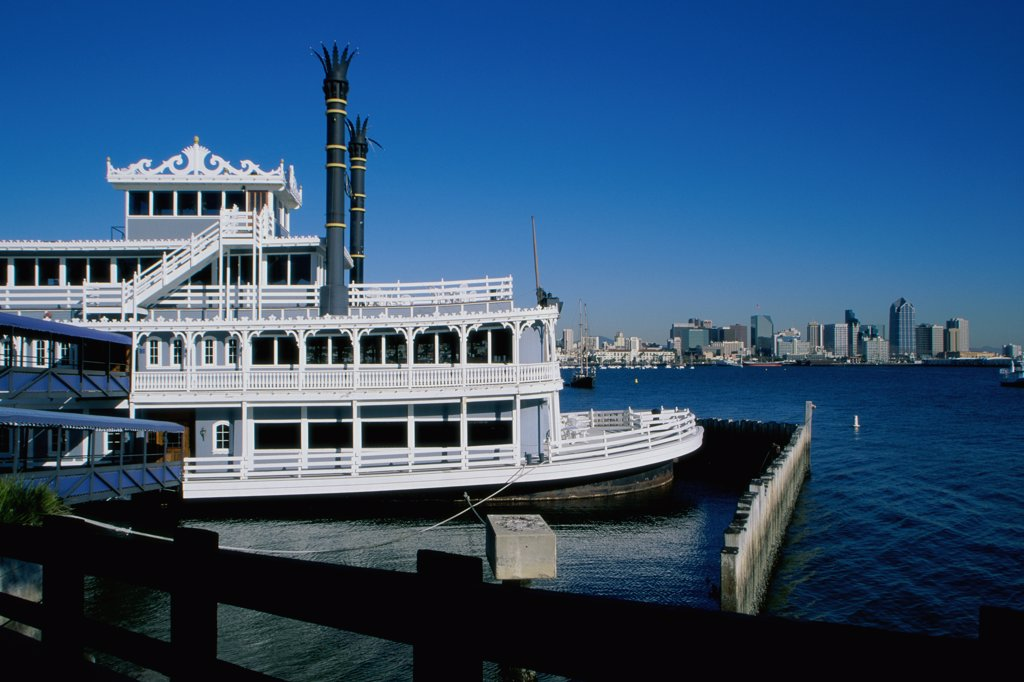 Charley Brown's Riverboat San Diego California, USA : Stock Photo