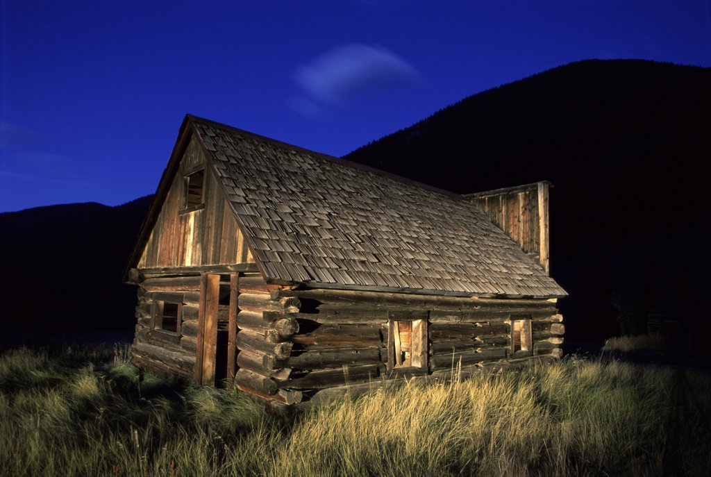 Stock Photo: 1486-9341 Building at Ashcroft Ghost Town, Colorado, USA