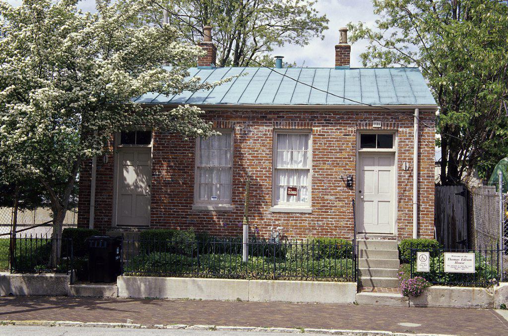 Stock Photo: 1486-9457 Thomas Edison House Museum Louisville Kentucky, USA