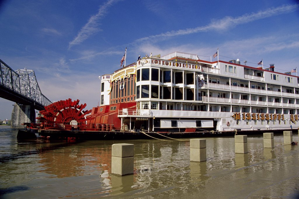 Stock Photo: 1486-9461 Mississippi Queen Riverboat