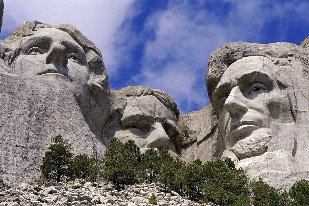 Stock Photo: 1486-9649 Mount Rushmore National Memorial South Dakota USA