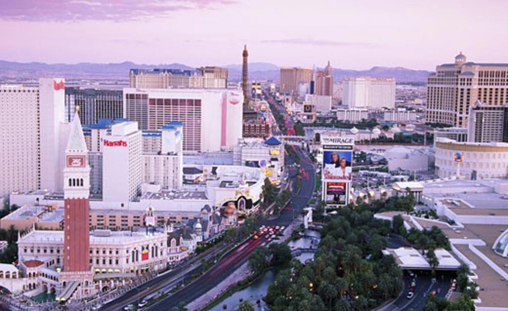 USA, Nevada, Las Vegas, aerial view of city : Stock Photo