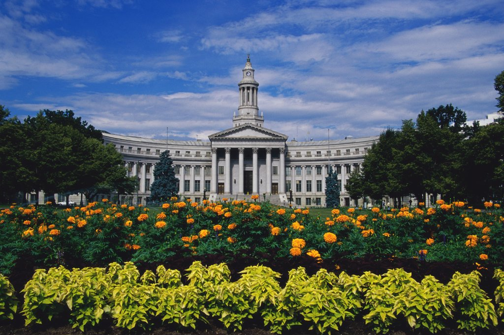 Stock Photo: 1486-9918 Facade of a government building, City and County Building, Denver, Colorado, USA