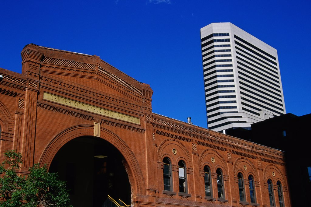 Low angle view of a building, Denver City Cable Railway Building, Denver, Colorado, USA : Stock Photo