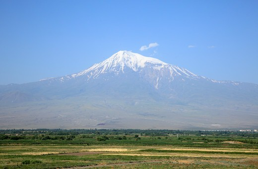 Stock Photo: 1488-1245 Armenia, View of Mt. Ararat (Turkey)