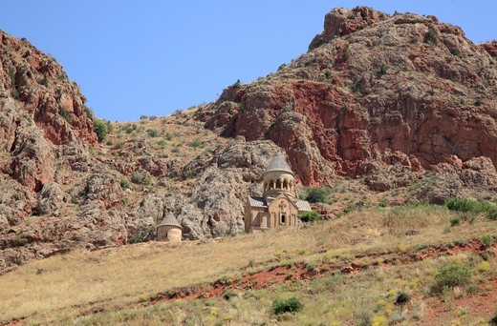 Stock Photo: 1488-1248 Armenia, Noravank Church in Noravank Canyon