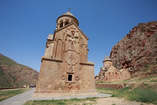 Stock Photo: 1488-1251 Armenia, Noravank Church in Noravank Canyon