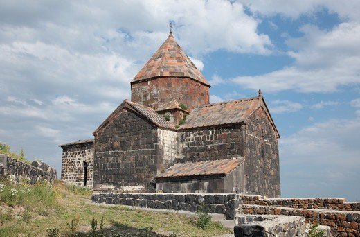 Stock Photo: 1488-1259 Armenia, Lake Sevan Goshavank Church