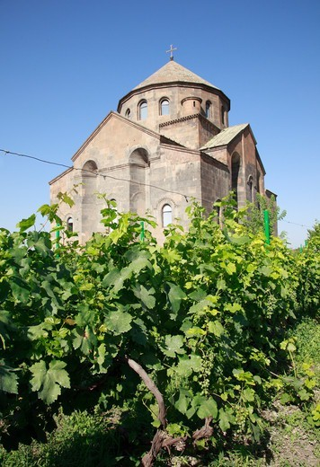 Stock Photo: 1488-1265 Armenia, near Yerevan, St. Hripsime Church and Vineyard