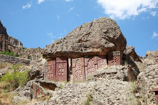 Stock Photo: 1488-1269 Armenia, Geyhard Rock Monastery