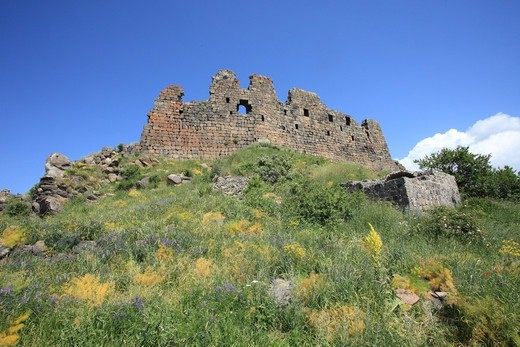 Stock Photo: 1488-1307 Armenia, Ruins of Ambert Fortress