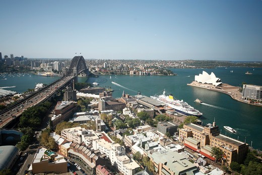 Stock Photo: 1488-1322 Australia, Sydney, Harbour, Bridge and Opera House