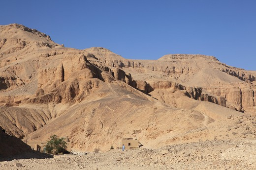Stock Photo: 1488-171 Tombs in a desert, Valley of The Kings, Luxor, Egypt
