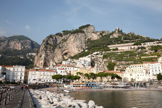 Stock Photo: 1488-427 Town at the waterfront, Amalfi, Campania, Italy