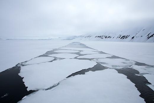 Arctic, Norway, Ice float : Stock Photo