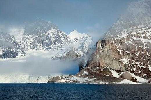 Arctic, Norway, Coastline mountains : Stock Photo
