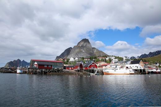 Arctic, Norway, Lofoten Islands, Reine fishing village : Stock Photo