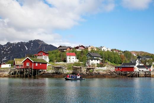 Stock Photo: 1488-509 Arctic, Norway, Lofoten Islands, Reine fishing village