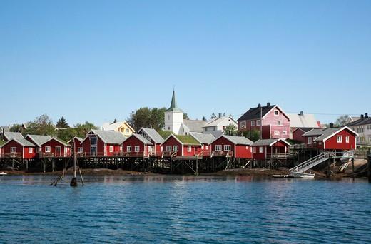 Stock Photo: 1488-510 Norway, Lofoten Islands, Reine fishing village