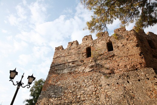 Stock Photo: 1488-916 Fortified wall of a castle, Durres, Albania