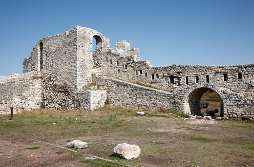 Old ruin of a monastery, Apollonia, Illyria, Albania : Stock Photo
