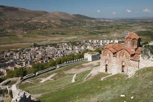 Stock Photo: 1488-920 High angle view of Byzantine Church, Berat, Albania