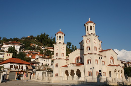 Stock Photo: 1488-922 Church in a town, Berat, Albania