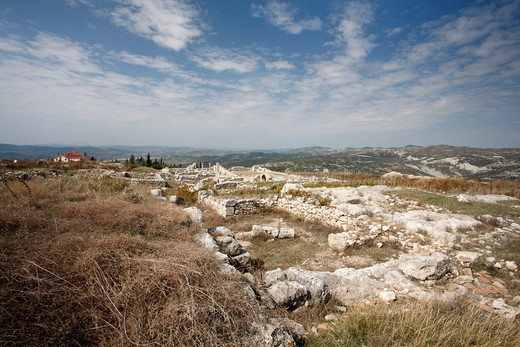 Stock Photo: 1488-924 Ruins of an ancient Greek city, Byllis, Illyria, Albania