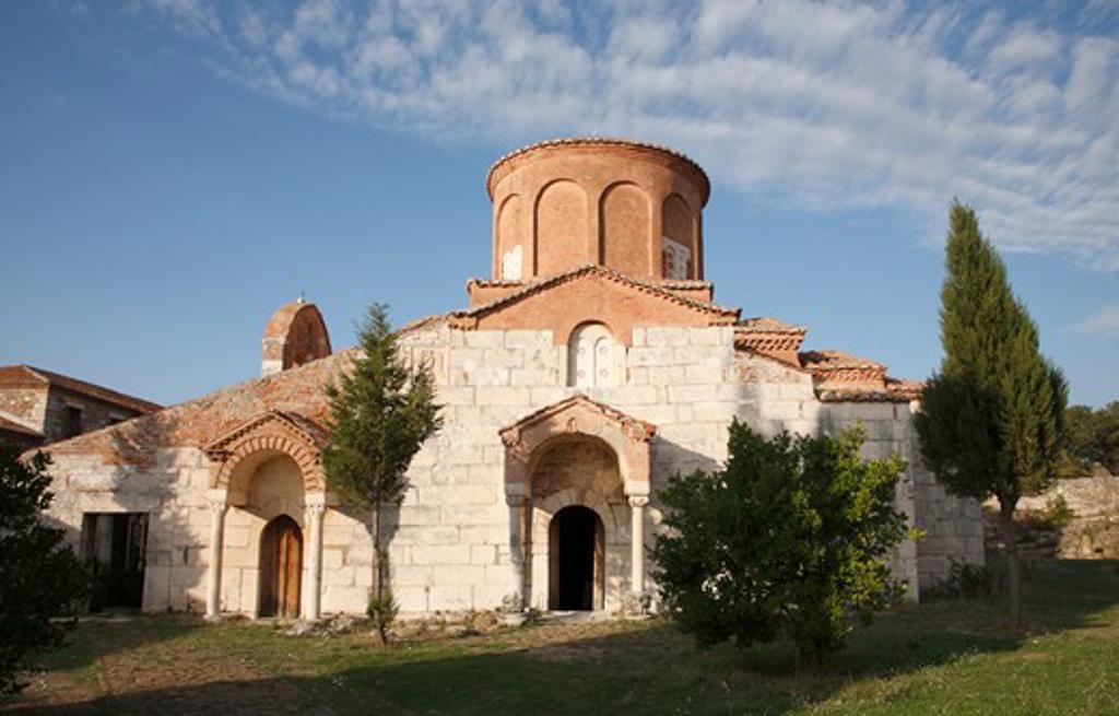 Stock Photo: 1488-927 Facade on an old monastery, Apollonia, Illyria, Albania