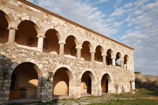 Stock Photo: 1488-928 Facade of an old monastery, Apollonia, Illyria, Albania