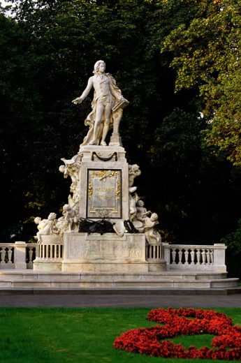 Statue of Mozart, Burggarten, Vienna, Austria : Stock Photo