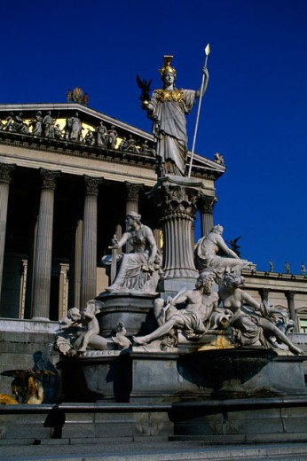 Stock Photo: 149-1292B Statue outside the Parliament, Vienna, Austria