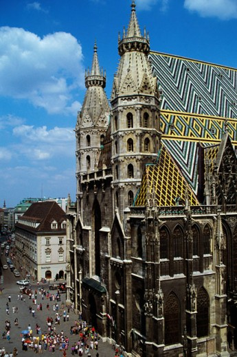 Stock Photo: 149-1298B St. Stephen's Cathedral, Vienna, Austria