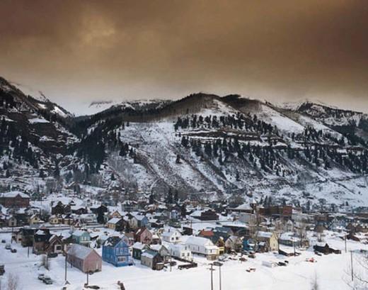 Telluride in the snow, Colorado, USA : Stock Photo