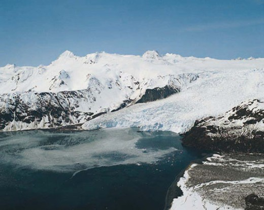 Stock Photo: 1491R-1014316 Glacier in Aialik Bay, near Seward, Alaska, USA
