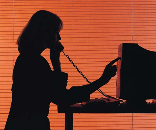 Female on telephone : Stock Photo