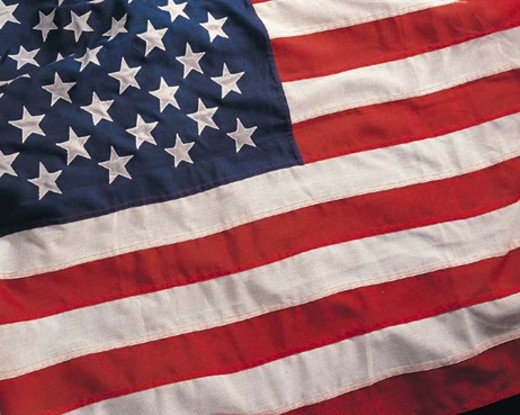 Stock Photo: 1491R-1014899 American flag